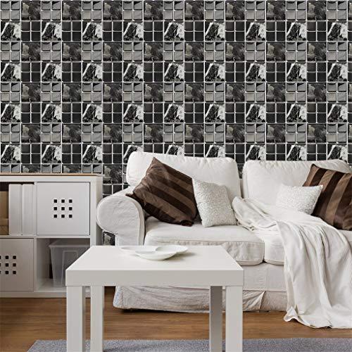30 stück Mosaik Fliesenaufkleber Selbstklebende Klebefolie 3D- Fliesen-Sticker Aufkleber Klebefliesen Fliesendekor Fliesenfolie Bordüre Mosaikfliesen Wasserdicht Küche Badezimmer (A)