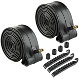 Livtor 2 Pack 26 Inch Inner Tubes Replacement for 26x1.75/1.95 Schrader Valve MTB Bike BMX Bicycle Inner Tubes with 3 Tire Levers& 2 Extra Valve Caps
