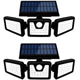 Otdair Solar Security Lights, 3 Head Motion Sensor Lights Adjustable 70LED Flood Lights Outdoor...