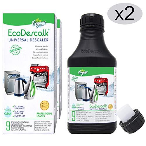 EcoDescalk Universal Biologico Concentrato 2 x 9 Decalcificazioni. Decalcificante 100% Naturale....
