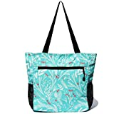 Original Floral Water Resistant Tote Bag Large Shoulder Bag with Multi Pockets for Gym Hiking Picnic...