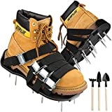 CoPedvic Lawn Aerator Shoes with 8 Adjustable Double Layers Straps, Heavy Duty Spiked Aerating Shoes Withstand Up to 400LB, Lawn Aerator Sandals Use for Patio, Lawn, Garden& Yard
