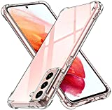 iVoler Cover per Samsung Galaxy S21 4G / S21 5G, Custodia Trasparente per Assorbimento degli Urti con Paraurti in TPU Morbido, Sottile Morbida in Silicone TPU Protettiva Case