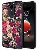 Flowers Case for LG Aristo 3 / Tribute Empire/Phoenix 4 / Aristo 2 / Tribute Dynasty/Fortune 2 / Zone 4 / Rebel 3 / Rebel 4 / Aristo 2 Plus / K8 2018, ANLI Floral Design Case for Girls and Women