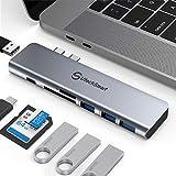 Hub USB C adaptateur multiport USB C adaptateur aluminium Thunderbolt 3...