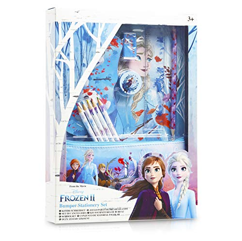Disney Frozen 2 Set Scuola Cancelleria per Bambina con Anna ed Elsa Il Regno di Ghiaccio - Kit di...