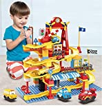156PCS Marble Run Building Blocks Set for Kids, Marble Race Track for 3+ Year Old Boys and Girls,...