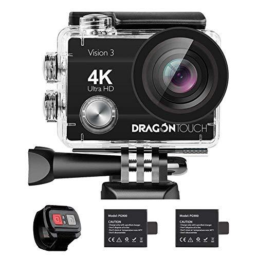 Caméra Sport 4k Dragon Touch Vision 3 WiFi avec Télécommande...
