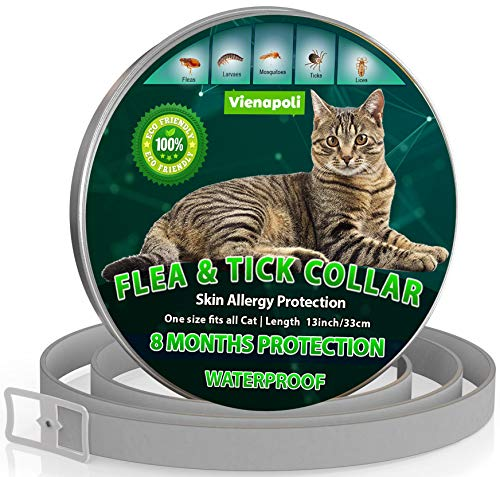 Collar antipulgas y garrapatas para Gatos, resistente al aqua,...