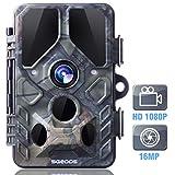 SGODDE Caméra de Chasse 16MP 1080P HD Étanche, Écran LCD 2,4' Appareil Photo de Surveillance 26 Pcs IR LED Vision Nocturne Infrarouge, Grand Angle 120°...