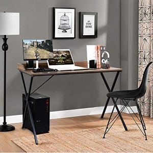 Aingoo Large Writing Computer Desk Study Table 47' Simplified Black Workstation Home Office Modern Updated Version (Black)
