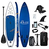 Soopotay Inflatable Standup Paddleboard, Inflatable SUP Board Stand Up, iSUP Package with All Accessories (Navy Blue, 11'6'' x 32'' x 6'')