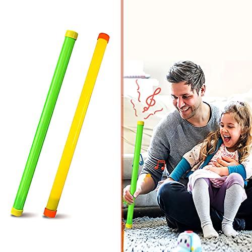 Dreamark 2 Pezzi Groan Tube, Tubo Sonoro / Bastone Sonoro in Plastica. LOL Rumoroso Scherzo Ridere per Bambini / Visto in LOL da Frank Matano. 2 Colori (Blu, Verde)