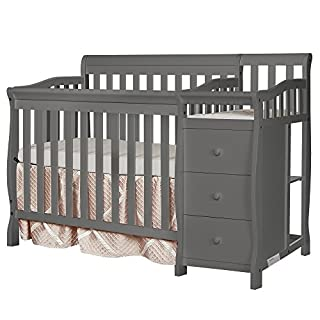 """Crib converts to a daybed. 1"""" Changing Pad Included. Fits mini-size crib mattresses(37.5"""" x 25.5"""") - NOT INCLUDED. Converts to Twin bed. Bed frame & Twin Size Rail SOLD SEPARATELY. 3 position mattress support system. Solid pine wood finish. Weight ca..."""