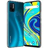 Smartphone Débloqué 4G, UMIDIGI A7 Pro (2020) AI Quad Camera 4GB+128GB Téléphone Portable, 4150mAh Batterie 6,3 Pouces Téléphone Android 10 Océan Bleu-Version Française