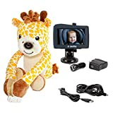 zooby kin Quick Glance Wireless Video Baby Monitor for Car, Home, Anywhere! Truly Portable Plush Animal Camera with 4.3' Hi-Definition Monitor Keeps Baby Always in View for Peace of Mind, Giraffe