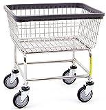 R&B Wire 100E Standard Wire Laundry Cart, 2.5 Bushel, Chrome