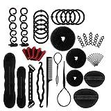 Accessoires de Coiffure, 40 pcs Hair Styling Set d'Outils de Coiffure...