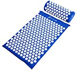 ProsourceFit Acupressure Mat and Pillow Set for Back/Neck Pain Relief and Muscle Relaxation, Blue
