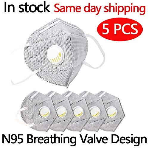 Safety FFP2/PM2.5, con valvola di respirazione, adatto per molte occasioni, adulti uomini e donne Protezione personale (5)