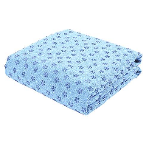 FLURYSAR Fitness Yogadecke Yoga Towel mit Rutschfester Oberfläche (Nopen) (Hellbau)