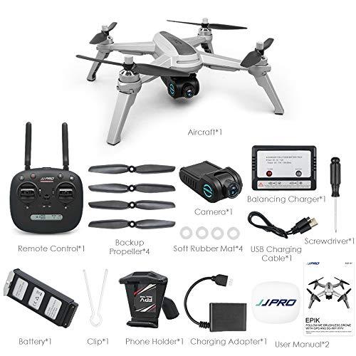 MeterMall RC Toys Multirotor JJRC JJPRO X5 5G WiFi FPV RC Drone GPS Posizionamento di altitudine Tenere la Fotocamera 1080P Motore brushless 1 Batteria