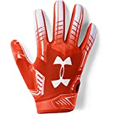 Under Armour boys F6 Youth Football Gloves Dark Orange (860)/White Youth Small