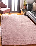 Unique Loom Solo Collection Solid Plush Kids Pink Area Rug (5' 0 x 7' 7)