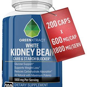 Carb Blocker - 1800 MG - 200 X 600 MG of 100% Pure White Kidney Bean Extract - 2 Phase Carb Blocking Benefits (Ingestion and Digestion) 2 - My Weight Loss Today