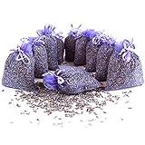 Quertee 10 x Lavendelsäckchen Duftsäckchen mit Lavendel als Mottenschutz gegen Motten im Kleiderschrank mit französischen Lavendel zum Entspannen und Schlafen (10 x 10 g Lavendelblüten)