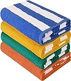 Utopia Towels - Lot de 4 Serviette de Plage en 100% Coton - 76 x 152 cm...