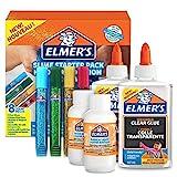 Elmer's Kit di Base per Slime con Colla, Colla Trasparente, Penne con Colla Glitterata e Liquido Magico Attivatore di Slime, Confezione da 8