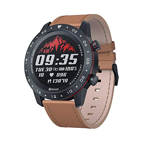 Practical for Zeblaze NEO 2 Smart Watch Android iOS Heart Rate Monitoring Round Dial Full Touch Screen Bracelet Orange