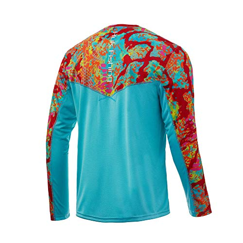 HUK Men's Kryptek Icon X Long Sleeve Performance Fishing Shirt with +30 UPF Sun Protection & Reflective Coating