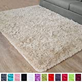 PAGISOFE Beige Fluffy Shag Area Rugs for Bedroom 3x5, Soft Fuzzy Shaggy Rugs for Girls Bedroom Kids Room Carpet Furry Throw Dorm Rug