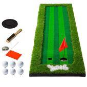 GERF Indoor and Outdoor Golf mat Women Men Golf Putting System Professional Practice Green Long Challenging Putter Indoor/Outdoor Easy to Roll Up