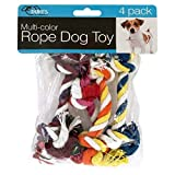 DUKES Multi-Color Rope Dog Toy 4Piece Set