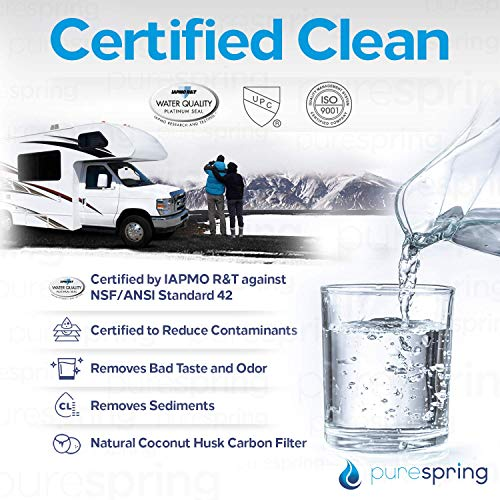 Product Image 3: PureSpring RV Inline Water Filter with Flexible Hose Protector for RV's, Campers, Motor Homes, Boats, Pets, Automobile/Car Washing
