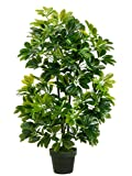 One 40 inch Outdoor Artificial Schefflera Palm Tree Potted Plant