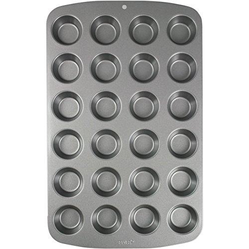 PME CSB111 Teglia Antiaderente, Carbonio, Grigio, 24 Muffin Piccoli