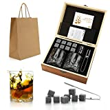 Ensemble Cadeau de Pierres et Verres de Whisky, Whiskey Rocks, Pierres...