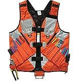 Sweety House General Hardware Tools Vest Electrician Carpenter Plumber Construction Pipe Industrial Hardware Kit Vest Vest (Orange)