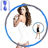 Hula Hoops for Adults Weight Loss - Weighted Hula Hoop,Weighted Exercise Hula Hoops for Kids,Hula Hoops Bulk,Professional Soft Fitness Hula Hoops - Detachable Design