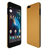 Skinomi Gold Carbon Fiber Full Body Skin Compatible with Orbic Wonder (Full Coverage) TechSkin with Anti-Bubble Clear Film Screen Protector