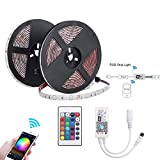 WOWLED Alexa LED Strips Lights, 10m WiFi Smart LED Strip SMD 5050 RGB IP65 Waterproof 300led, Compatible with Alexa, Google Home, IFTTT, WiFi Smart Phone Wireless Controller for Smart Home Decoration