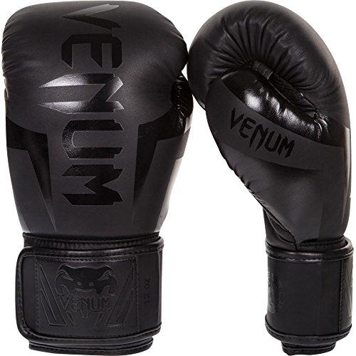 VENUM Elite Guantes de Boxeo, Unisex Adulto, Negro Matte/Negro, 16 oz