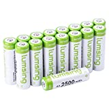 LUMSING 2500mAh AA Rechargeable...