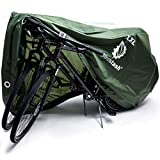YardStash Outdoor Waterproof Bike Cover - Bicycle Storage Tarp for 1, 2 or 3 Bikes - Shelter from All Weather Conditions for Mountain, Road, Dirt Bike or Motorcycle (Bicycle Cover XXL)