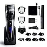Hatteker Mens Beard Trimmer Hair Clipper Hair Trimmer Cordless Grooming Kit Mustache Trimmer Precision Trimmer for Men Hair Cutting Kit Waterproof 3 in 1