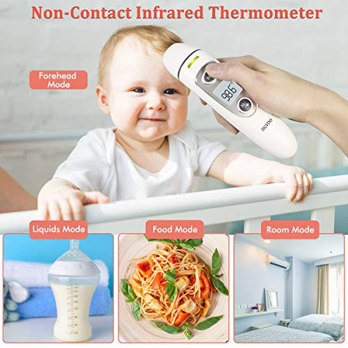 US-Stock-Non-Contact-Forehead-Thermometers-No-Touch-Digital-Infrared-Thermometer-for-Adults-Kids-and-Baby-Touchless-Thermometer-Within-04-Inch-Distance-Fever-Alarm-Memory-Function